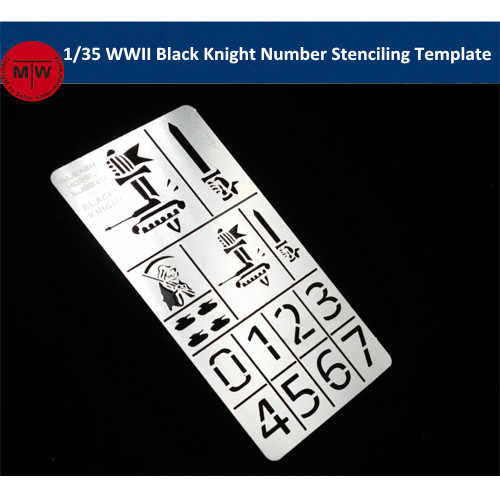 1/35 Scale WWII German Black Knight Number Stenciling Template Model Building Tools AJ0016
