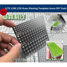 1/72 1/48 1/35 Scale Grass Planting Template Scene DIY Tools AJ0044
