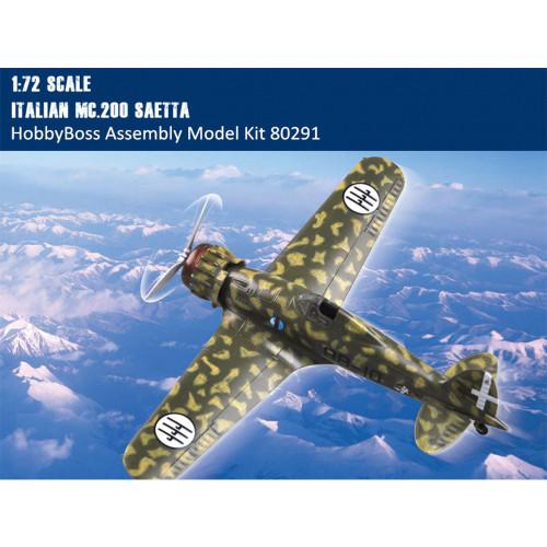 HobbyBoss 80291 1/72 Scale Italian MC.200 Saetta Fighter Plastic Assembly Aircraft Model Kits