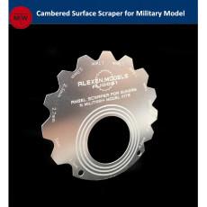 Alexen Model Cambered Surface Scraper Edge Repair Tools for Gundam and Armor Military Model Hobby Craft Kits AJ0061