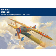 Merit 62401 1/24 Scale Spad S.XIII Fighter Military Plastic Assembly Aircraft Model Building Kits