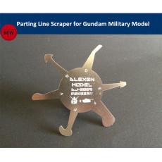 Alexen Model Parting Line Scraper Hand Tool for Gundam Military Model Hobby Kits Version2 AJ0009