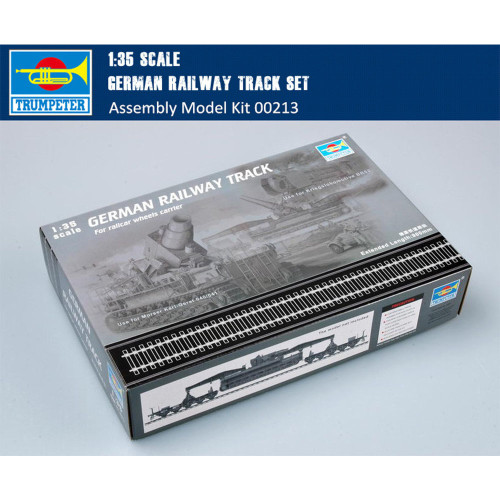Trumpeter 00213 1/35 Scale German Railway Track Set for Railcar Wheels Carrier Plastic Assembly Model Kits