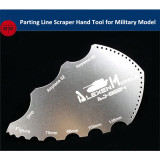 Alexen Model Parting Line Scraper Hand Tool for Military Model Hobby Kits AJ0004