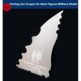 Alexen Model Parting Line Scraper Hand Tool for Resin Soldier Figures Military Model Hobby Kits AJ0006