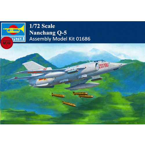 Trumpeter 01686 1/72 Scale Chinses PLA Nanchang Q-5 Attack Aircraft Military Plastic Assembly Model Kits