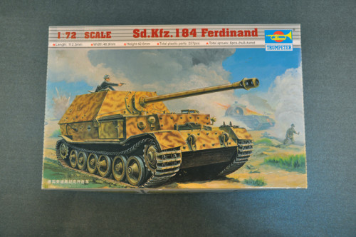 Trumpeter 07205 1/72 Scale Sd.Kfz.184 Ferdinand Tank Destroyer Military Plastic Assembly Model Kits