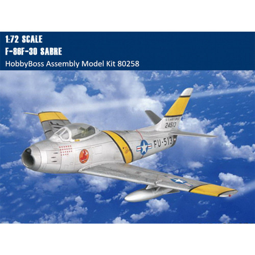 HobbyBoss 80258 1/72 Scale F-86F-30 Sabre Fighter Military Plastic Aircraft Assembly Model Kits