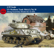 Pre-order Meng TS-043 1/35 Scale US Medium Tank M4A3 (76) W Sherman Tyrannosaurus Series Military Plastic Assembly Model Kits