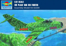 Trumpeter 02204 1/32 Scale The PLAAF MIG-15 bis Fighter Military Plastic Assembly Aircraft Model Kits