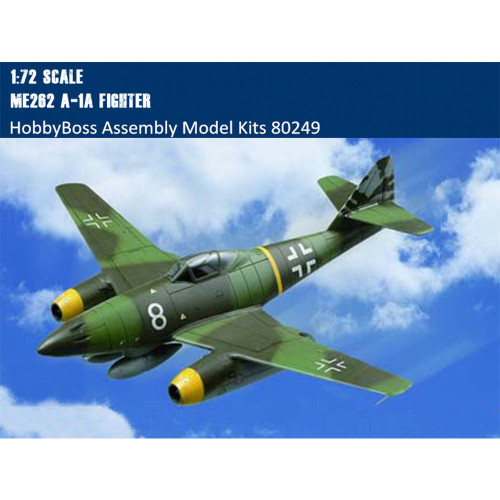 HobbyBoss 80249 1/72 Scale Me262 A-1a Fighter Military Plastic Aircraft Assembly Model Kits