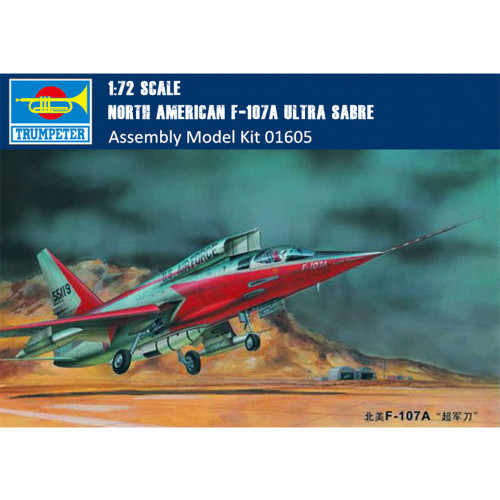 Trumpeter 01605 1/72 Scale North American F-107A Ultra Sabre Military Plastic Aircraft Assembly Model Kits