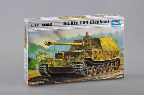 Trumpeter 07204 1/72 Scale German Elefant Tank Destroyer Sd.Kfz.184 Armor Plastic Assembly Model Kits