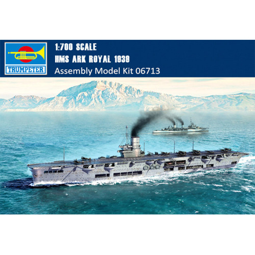 Trumpeter 06713 1/700 Scale HMS Ark Royal 1939 Aircraft Carrier Plastic Military Assembly Model Kits
