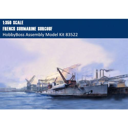 HobbyBoss 83522 1/350 Scale French Submarine Surcouf Military Battleship Assembly Model Building Kits