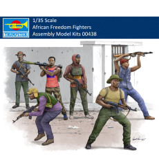 Trumpeter 00438 1/35 Scale African Freedom Fighters Military Soldiers Figures Plastic Assembly Model Kits