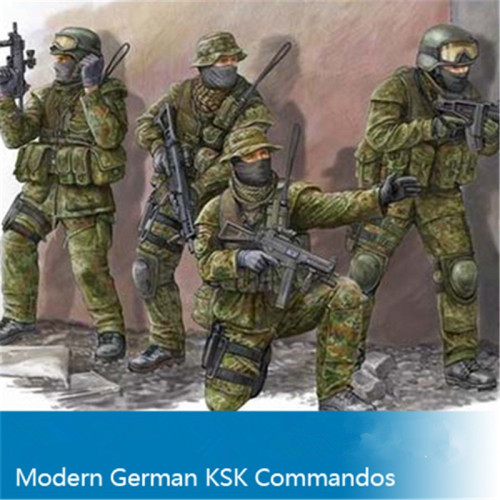 Trumpeter 00422 1/35 Scale Modern German KSK Commandos Assembly Military Soldiers Figures Model Kits