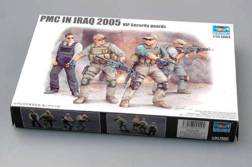 Trumpeter 00420 1/35 Scale PMC in Iraq 2005--VIP Security Guards Military Soldiers Figures Plastic Assembly Model Kits
