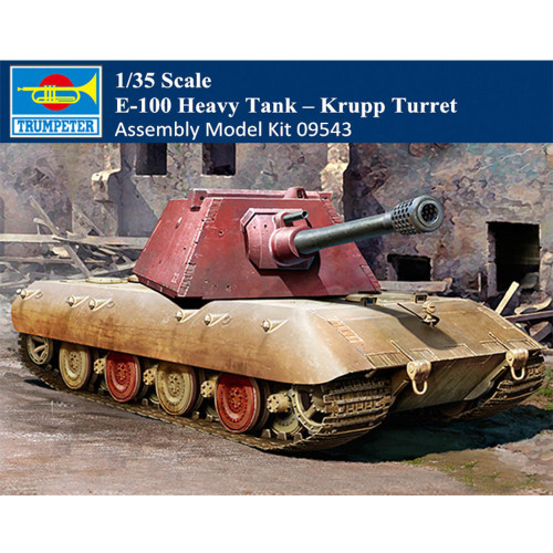 Trumpeter 09543 1/35 Scale E-100 Heavy Tank Krupp Turret Plastic Armor Assembly Model Kits
