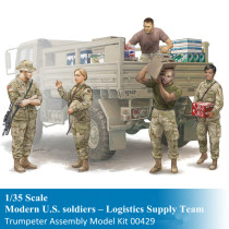 Trumpeter 00429 1/35 Scale Modern U.S. soldiers – Logistics Supply Team Military Soldier Figures Assembly Model Kits