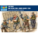 Trumpeter 00419 1/35 Scale PMC in Iraq 2005--Armed Assault Team Military Soldiers Figures Plastic Assembly Model Kits