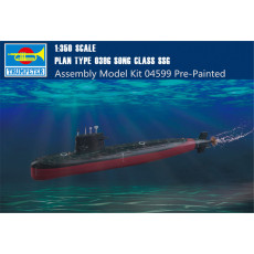Trumpeter 04599 1/350 Scale Chinese Type 039G Song class SSG Submarine Plastic Assembly Model Kits Pre-Painted