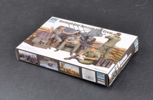 Trumpeter 00432 1/35 Scale German Anti-Aircraft Gun Crew Military Soldier Figures Plastic Assembly Model Kits
