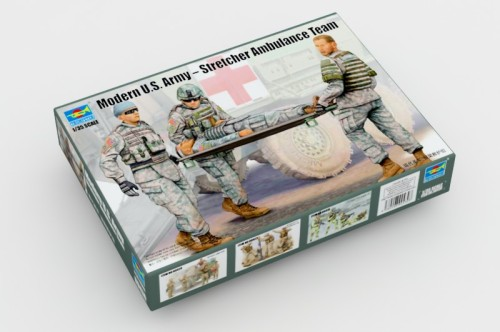 Trumpeter 00430 1/35 Scale Modern U.S. Army Stretcher Ambulance Team Soldier Figures Assembly Model Kits