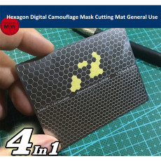 Hexagon Cellular Digital Camouflage Paint Mask Cutting Mat General Use Tool Double Side AJ0081