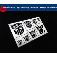 Transformers Logo Stenciling Template Leakage Spray Plate Tools General Use for Gundam Military Model AJ0041