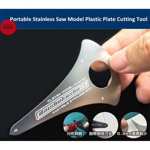 Portable Stainless Hand Saw Military Model Hobby Plastic Plate Cutting Tools General Use AJ0036