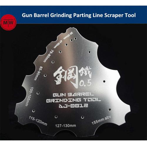 Gun Barrel Grinding Parting Line Scraper Hand Tool General Use for Military Model Hobby Kits AJ0012