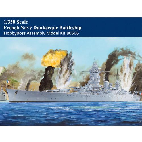 HobbyBoss 86506 1/350 Scale French Navy Dunkerque Battleship Military Plastic Assembly Model Kits