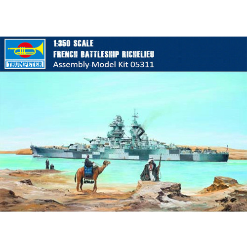 Trumpeter 05311 1/350 Scale French Battleship Richelieu Military Plastic Assembly Model Kits