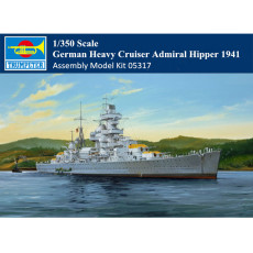 Trumpeter 05317 1/350 Scale German Heavy Cruiser Admiral Hipper 1941 Military Plastic Assembly Model Kits