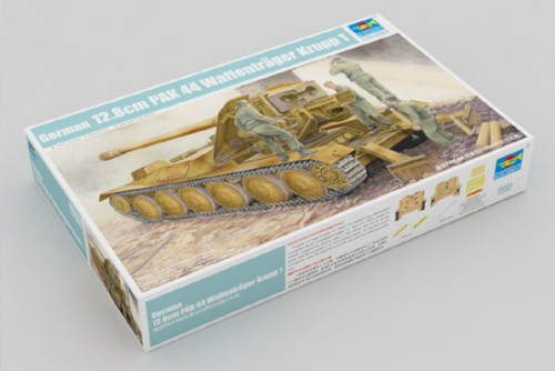 Trumpeter 05523 1/35 Scale German 12.8cm PAK 44 Waffentrager Krupp 1 Military Plastic Assembly Model Kits