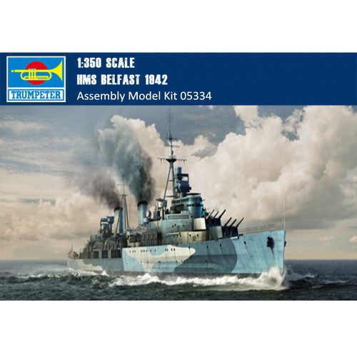Trumpeter 05334 1/350 Scale HMS Belfast 1942 Military Plastic Assembly Model Kits