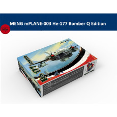 MENG Kids mPLANE-003 He-177 Bomber Q Edition Plastic Aircraft Airplane Assembly Model Kits