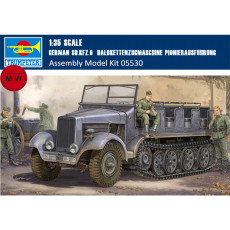 Trumpeter 05530 1/35 Scale German Sd.Kfz.6 Halbkettenzugmaschine Pionierausfuhrung Military Plastic Assembly Model Kits