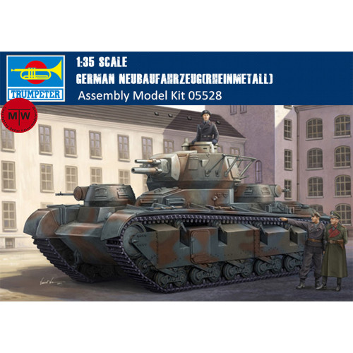 Trumpeter 05528 1/35 Scale German Neubaufahrzeug(Rheinmetall) Military Plastic Tank Assembly Model Kits