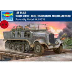 Trumpeter 05531 1/35 Scale German Sd.Kfz.6 Halbkettenzugmaschine Artillerieausfuhrung Military Plastic Assembly Model Kits