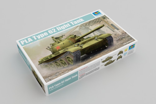 Trumpeter 05537 1/35 Scale Chinese PLA Type 62 Light Tank Military Plastic Assembly Model Kits