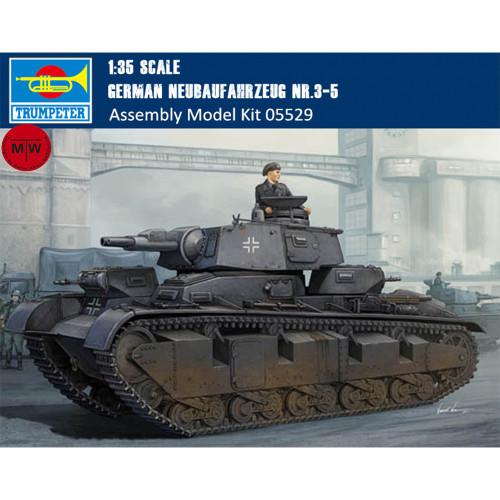 Trumpeter 05529 1/35 Scale German Neubaufahrzeug Nr.3-5 Military Plastic Tank Assembly Model Kits