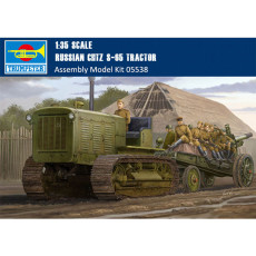 Trumpeter 05538 1/35 Scale Russian ChTZ S-65 Tractor Plastic Assembly Model Building Kits