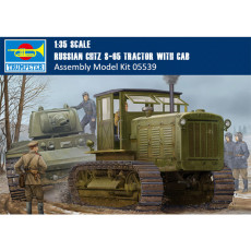 Trumpeter 05539 1/35 Scale Russian ChTZ S-65 Tractor with Cab Plastic Assembly Model Building Kits