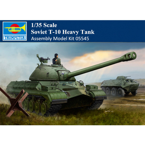 Trumpeter 05545 1/35 Scale Soviet T-10 Heavy Tank Military Plastic Assembly Model Building Kits