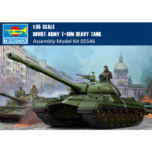 Trumpeter 05546 1/35 Scale Soviet T-10M Heavy Tank Plastic Military Assembly Model Building Kits