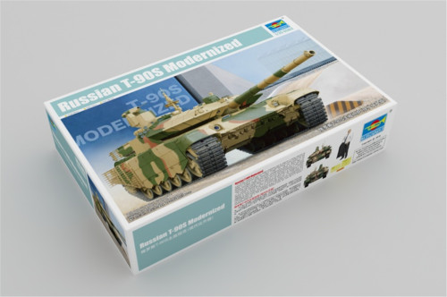 Trumpeter 05549 1/35 Scale Russian T-90S Modernized Military Tank Plastic Assembly Model Building Kits