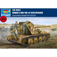 Trumpeter 05550 1/35 Scale German 8.8cm PAK-43 Waffentrager Military Plastic Assembly Model Kits