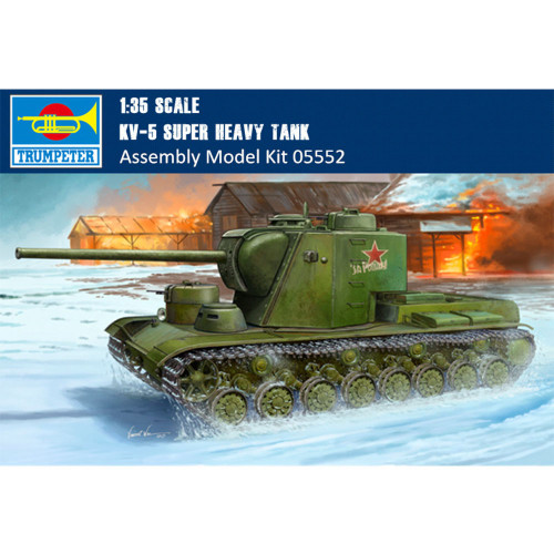 Trumpeter 05552 1/35 Scale KV-5 Super Heavy Tank Military Plastic Assembly Model Building Kits